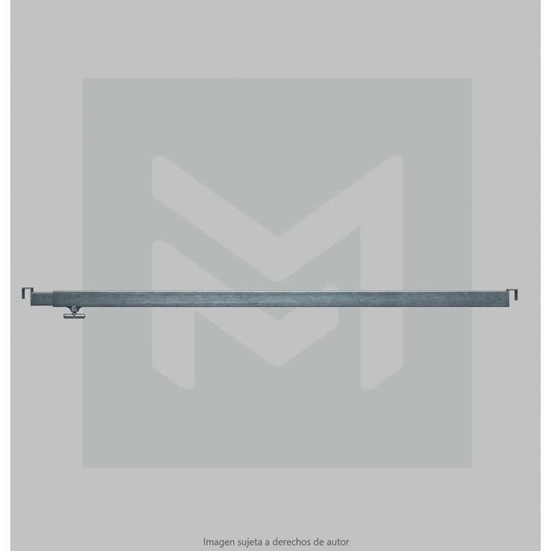 3m. extensible bar 35x25 with hooks